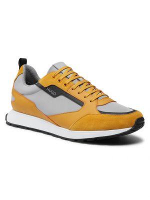 Żółte sneakersy Hugo