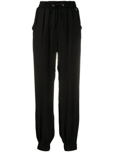 Брючные черные прямые брюки с карманами Twin-set