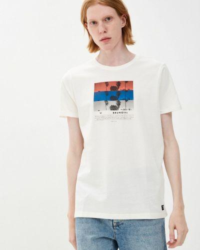 Белая футболка с короткими рукавами Brunotti
