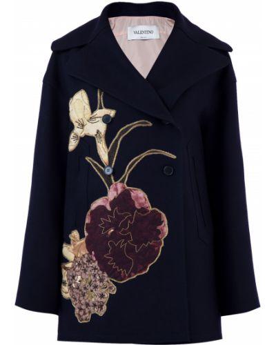 Пальто двубортное с вышивкой Valentino