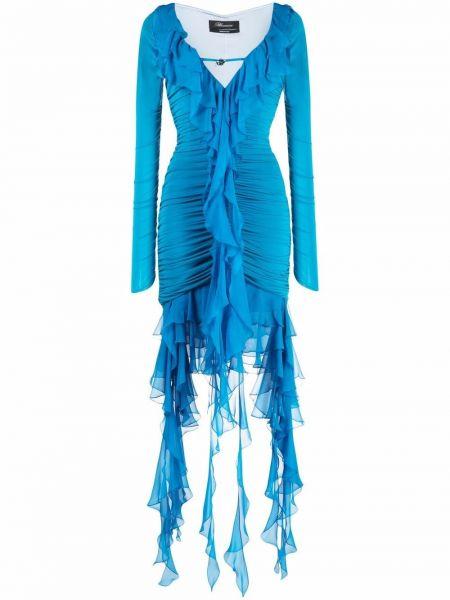 Трикотажная юбка мини - синяя Blumarine