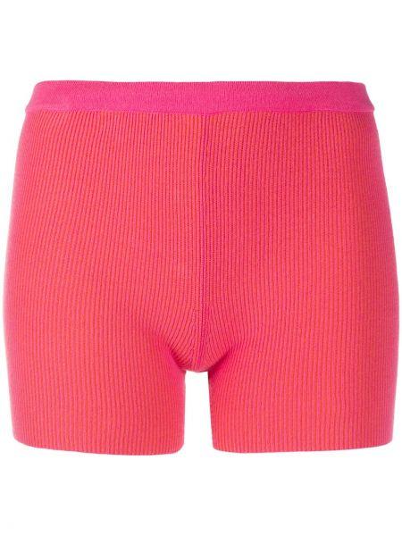 Розовые теплые короткие шорты Jacquemus
