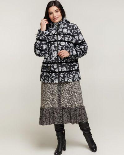 Куртка с капюшоном с воротником из плащевки Caramella