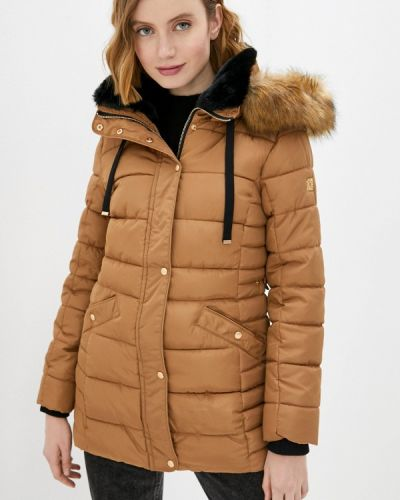 Коричневая утепленная куртка Zabaione