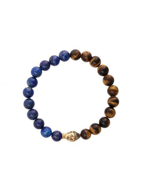 Коричневый браслет позолоченный Nialaya Jewelry