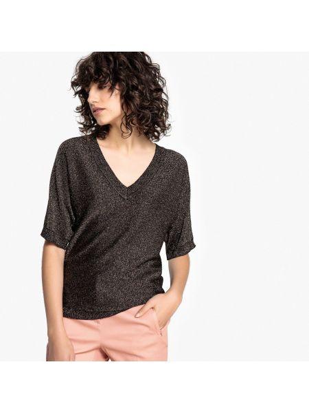 Пуловер с V-образным вырезом трикотажный La Redoute Collections