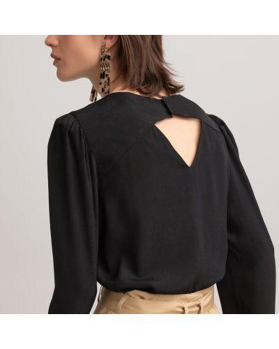 Черная блузка из вискозы с декольте Laredoute