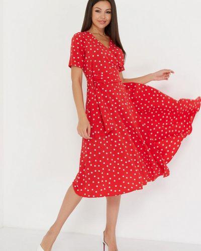 Платье с запахом красный A.karina