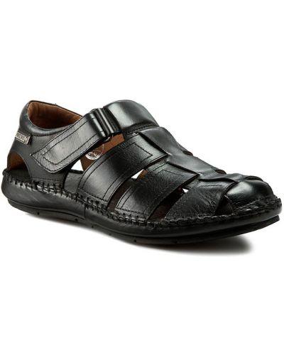 Klasyczne czarne sandały skorzane Pikolinos