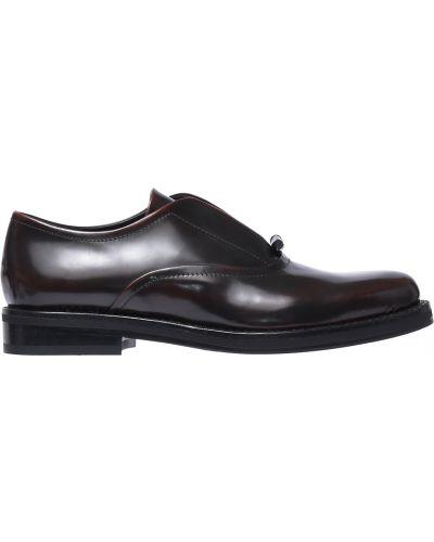 Коричневые кожаные туфли Fabi
