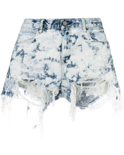 Джинсовые шорты с карманами на молнии Alexander Wang