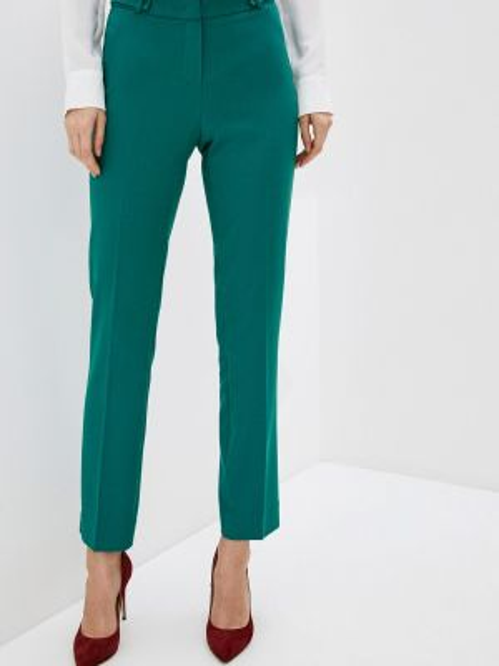 Зеленые классические брюки с карманами Antiga