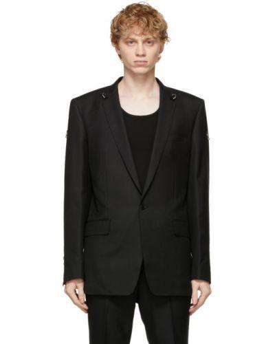 Черный удлиненный пиджак с подкладкой с воротником Johnlawrencesullivan