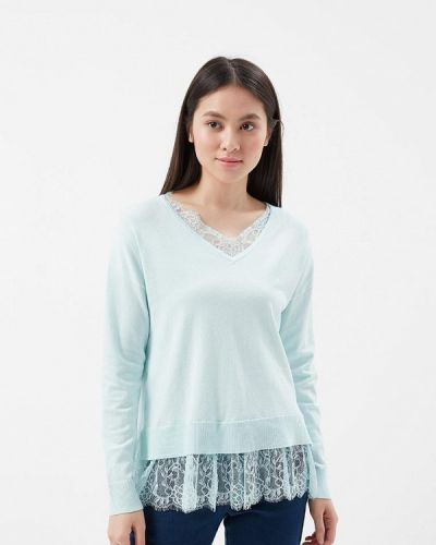 Бирюзовый пуловер 2018 Befree