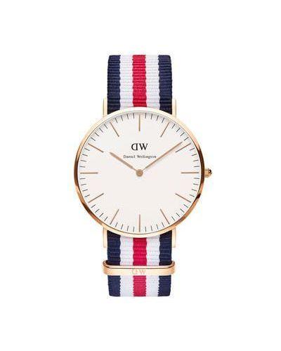 Кварцевые часы белые матовые Daniel Wellington