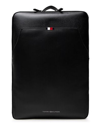 Czarny plecak skórzany Tommy Hilfiger