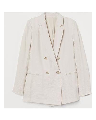 Пиджак двубортный - бежевый H&m