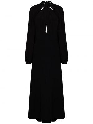 Черное платье макси с вырезом из вискозы Silvia Tcherassi