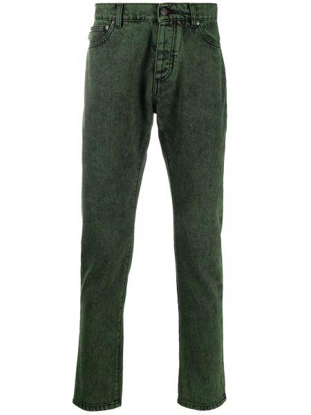 Bawełna bawełna czarny klasyczny jeansy z kieszeniami Msgm