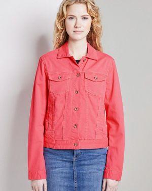 Джинсовая куртка весенняя розовая Tom Tailor