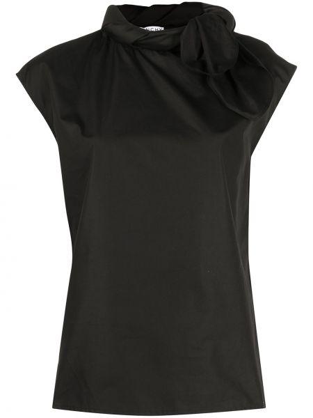 Bawełna czarny bluzka bez rękawów z kołnierzem bez rękawów Givenchy