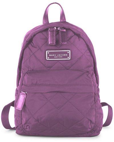 Plecak pikowany - fioletowy Marc Jacobs
