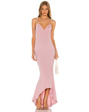 Вечернее платье розовое на бретелях Nbd