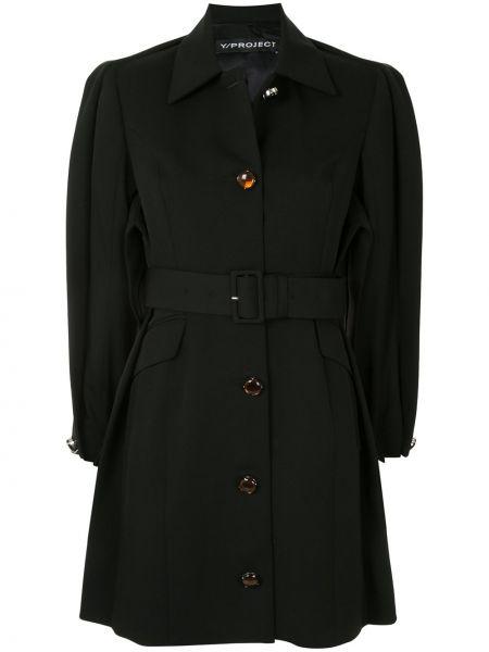 Прямой шерстяной длинное пальто на пуговицах Y/project