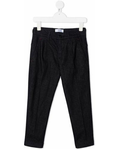 Прямые черные прямые джинсы с вышивкой на молнии Dondup Kids
