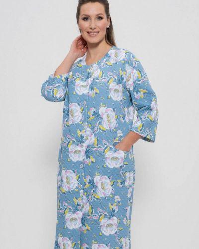 Домашний халат - голубой Cleo