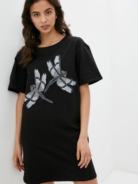 Платье футболка черное Blugirl Folies