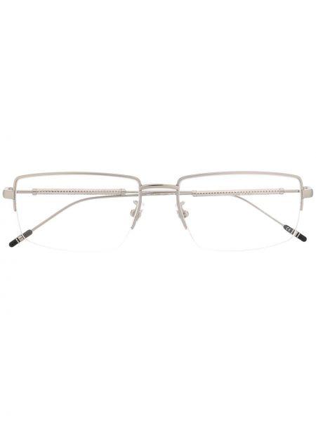 Серебряные очки для зрения квадратные металлические Montblanc