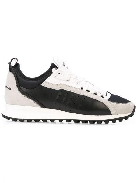 Ażurowy skórzany sneakersy Dsquared2