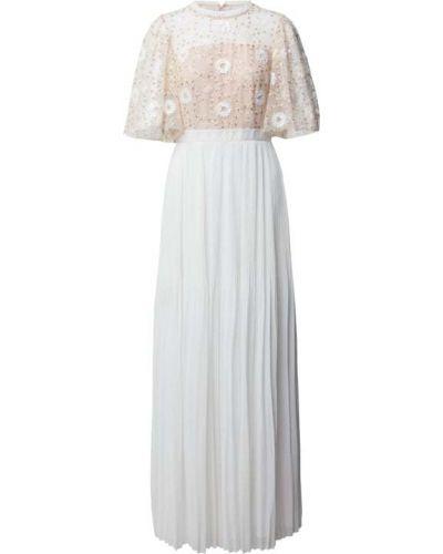 Biała sukienka z cekinami Apart Glamour