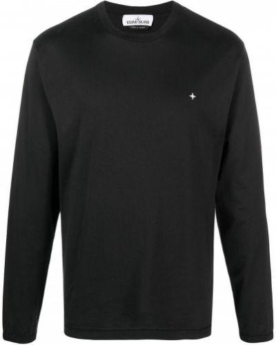Czarna koszula bawełniana Stone Island