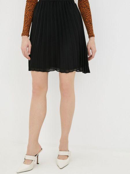 Плиссированное черное джинсовое платье Tom Tailor Denim