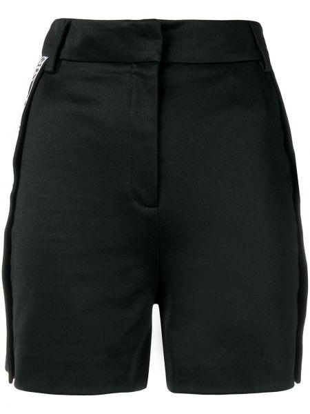 Однобортные черные шорты с высокой посадкой с поясом Versus