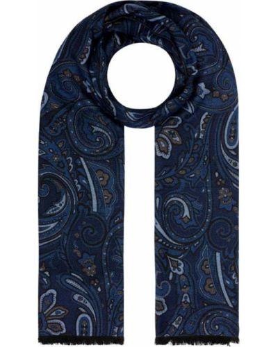 Niebieski szal z wiskozy Christian Berg Men