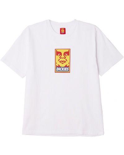 Белая повседневная футболка Obey