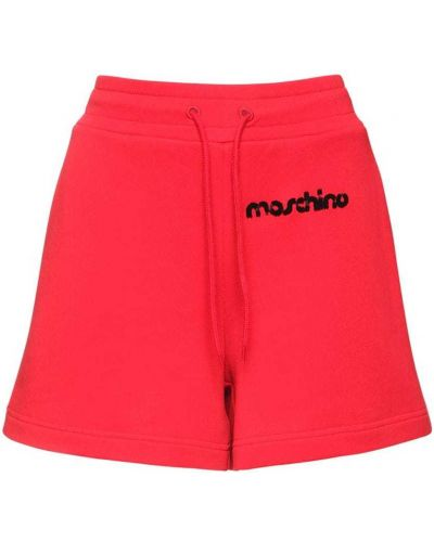 Трикотажные шорты с карманами с вышивкой Moschino