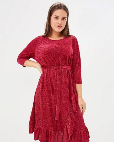 Повседневное платье осеннее красный Junarose
