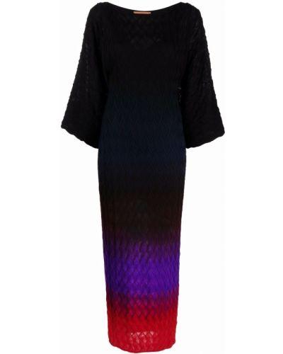 Шерстяное платье макси - черное Missoni