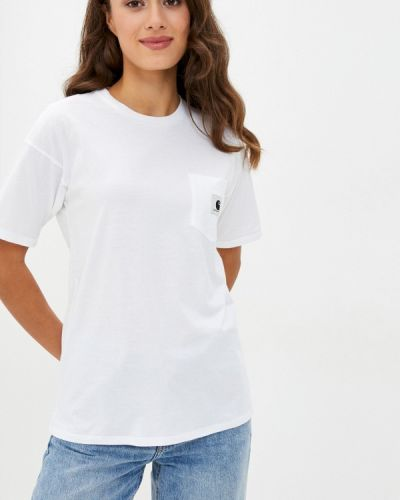 Белая футболка с короткими рукавами Carhartt