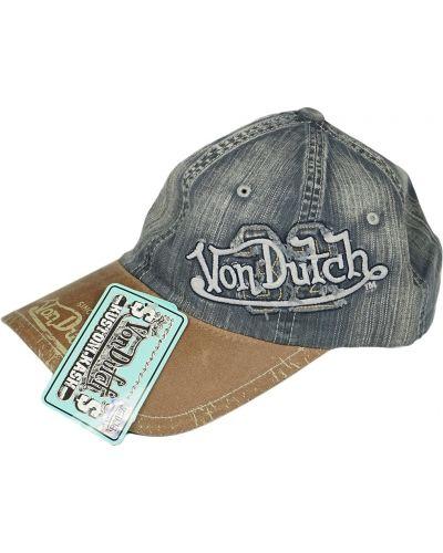 Кепка винтажная - синяя Von Dutch