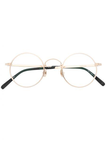 Złote okulary z printem Matsuda