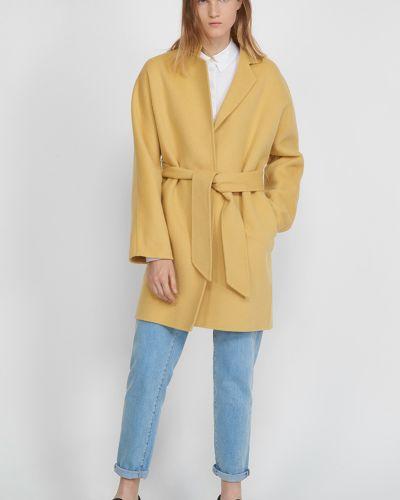 Шерстяное пальто - желтое Vassa&co