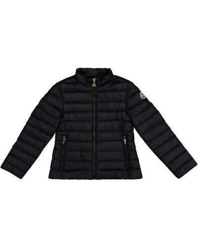 Черная теплая пуховая куртка Moncler Enfant