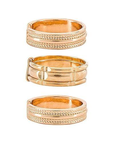 Złoty pierścionek na co dzień Ettika