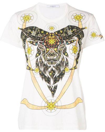 Biały bawełna z rękawami koszula Givenchy