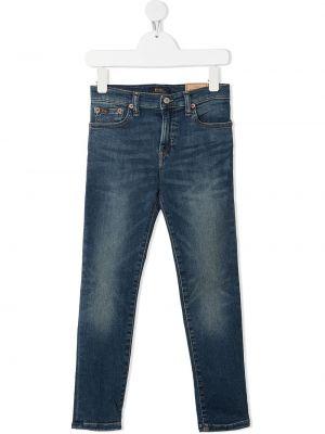 Облегающие синие джинсы-скинни на молнии Ralph Lauren Kids